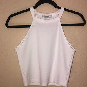 New Women's Zara white crop top size small